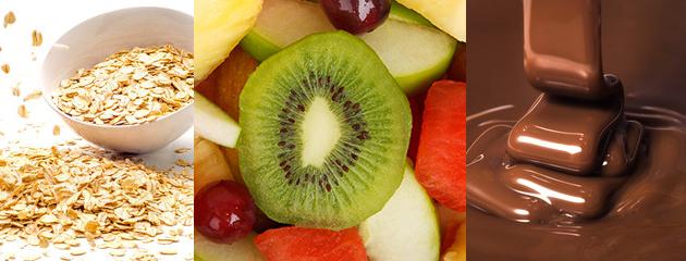 alimentos-que-melhoram-a-disposição-Aveia-frutas-chocolate